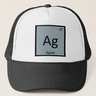 Boné AG - Símbolo da mesa periódica da química do