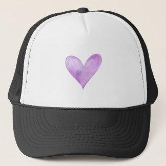 Boné Aguarela Purple Heart, coração dos namorados