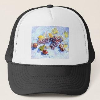 Boné Ainda vida com maçãs, peras, uvas - Van Gogh