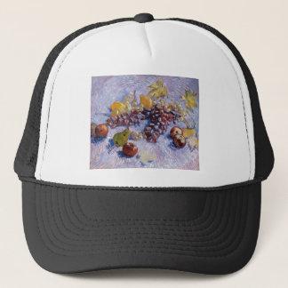 Boné Ainda vida: Maçãs, peras, uvas - Van Gogh