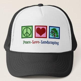 Boné Ajardinar do amor da paz