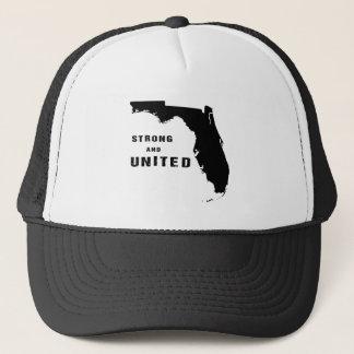 Boné Ajuda Florida após o furacão Irma preto e branco