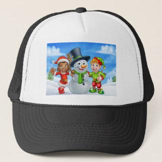 Boné Ajudantes de Santa do boneco de neve e do duende