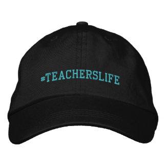 Boné ajustável básico bordado vida dos professores