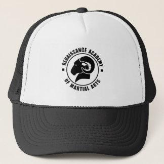 Boné ajustável do camionista, logotipo preto de