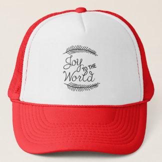 Boné Alegria ao chapéu do Natal do mundo