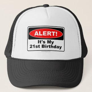 Boné ALERTA de 21 presentes de aniversário! Seu meu