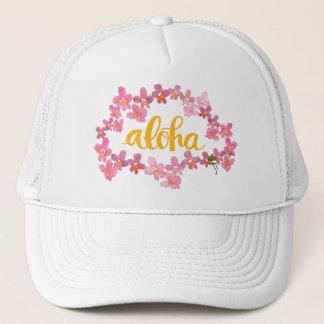 Boné Aloha chapéu do camionista dos leus da orquídea