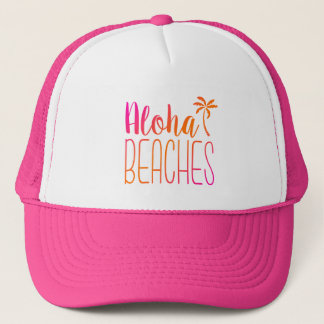 Boné Aloha encalha o chapéu cor-de-rosa e alaranjado de
