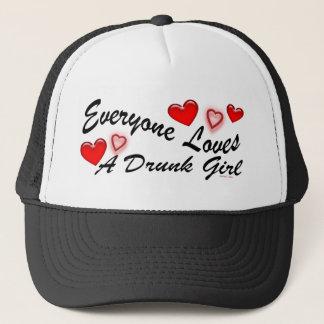 Boné Ama um chapéu bêbedo da menina