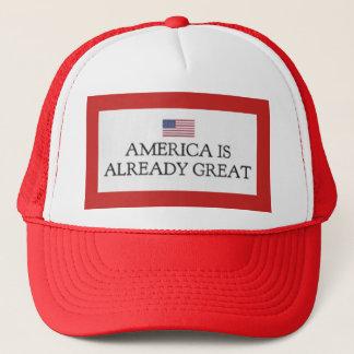 Boné América é já grande chapéu do caminhão