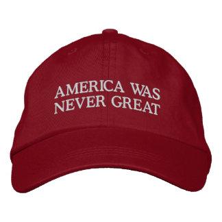 Boné América era nunca grande