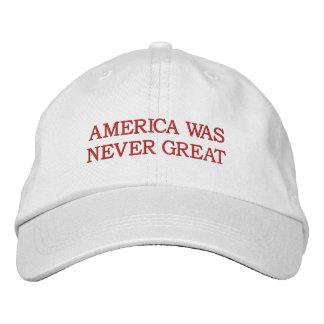 "Boné ""América era nunca grande"" chapéu"