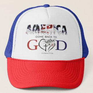 Boné América vem para trás ao chapéu do deus