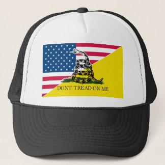 Boné Americano e bandeira de Gadsden