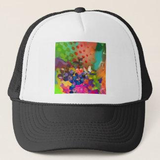 Boné Amor da natureza com fundo multicolorido