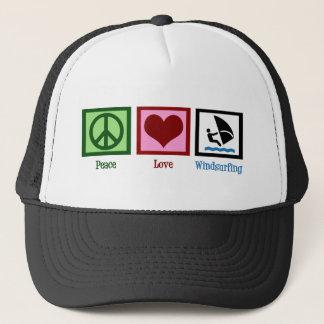 Boné Amor da paz que Windsurfing
