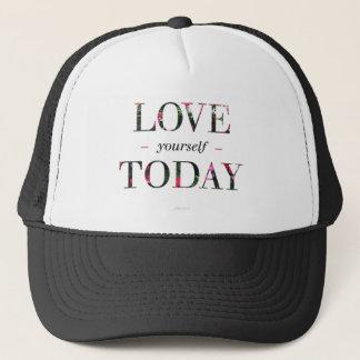 Boné Amor você mesmo, chapéu preto e branco do