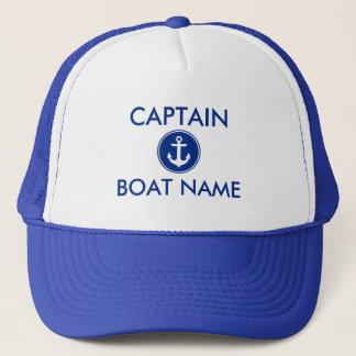 Boné Âncora azul náutica capitão personalizado Chapéu