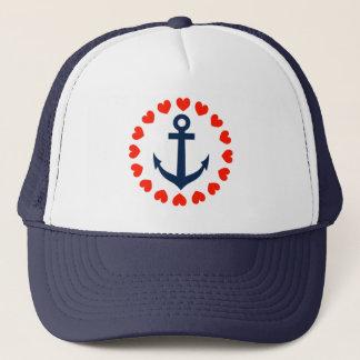 Boné Âncora náutica com o chapéu de navigação dos