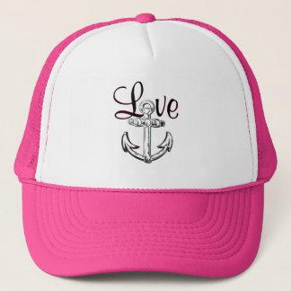 Boné Ancore o rosa náutico bonito do chapéu da casa de