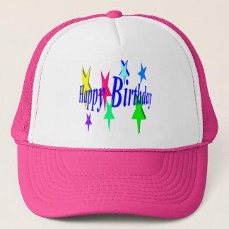 Boné Aniversário colorido