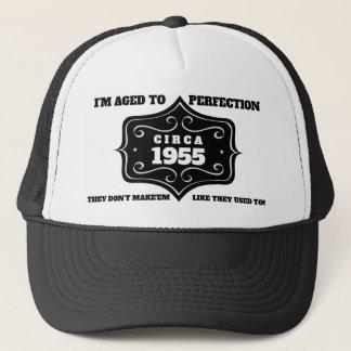 Boné Ano editável chapéu envelhecido do camionista do