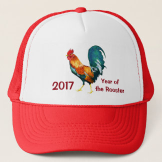 Boné Ano novo chinês do chapéu 2017 do galo