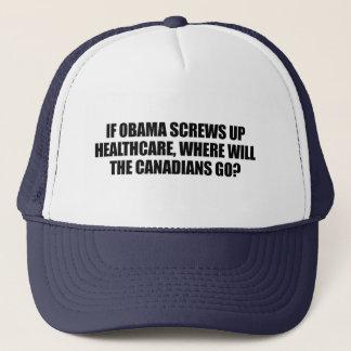 Boné Anti-Obama - se Obama parafusa acima cuidados