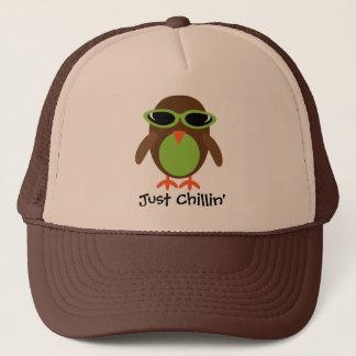 Boné Apenas coruja de Chillin com máscaras