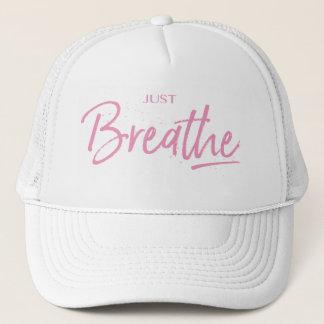 Boné Apenas respire, ioga, citações do zen