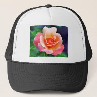 Boné Aperfeiçoe cor-de-rosa na flor