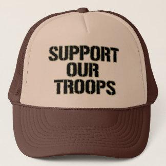 Boné Apoie nosso impressão de Camoflauge do chapéu das