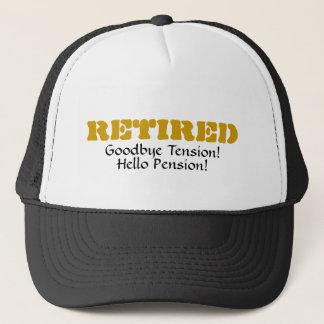 Boné Aposentado: Adeus pensão da tensão olá!! Chapéu da