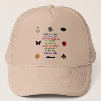 Boné Apronte para personalizar o chapéu seu PIC ou