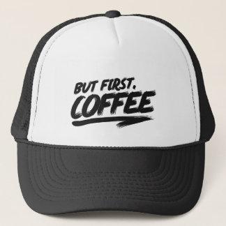 Boné Aprovação mas primeiro café
