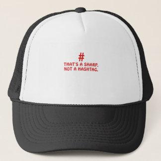 Boné Aquele é um Sharp não um Hashtag