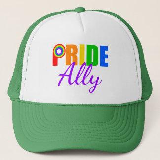 Boné Arco-íris do aliado do orgulho gay