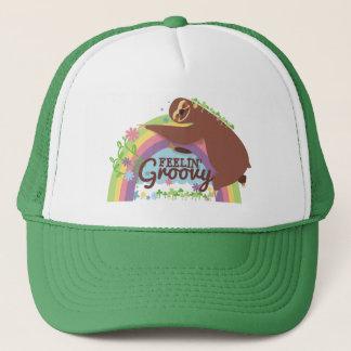 Boné Arco-íris retro do hippie da preguiça engraçada