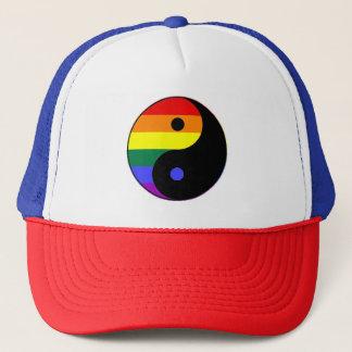 Boné Arco-íris Yin e Yang - cores do arco-íris do