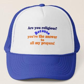 Boné ✔Are do 😁 você religioso? Porque. Linha engraçada