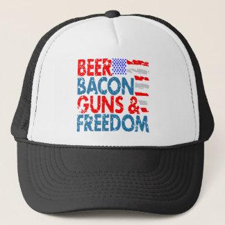 Boné Armas & liberdade do bacon da cerveja