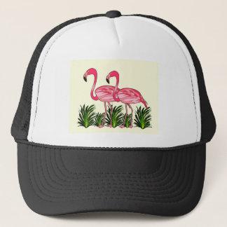 Boné Arte do amor do flamingo