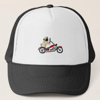 Boné Arte engraçada da motocicleta da equitação do cão