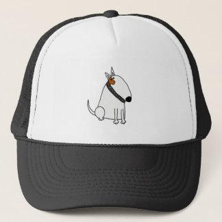 Boné Arte engraçada do cão de bull terrier