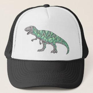 Boné Arte ilustrada Doodle do dinossauro de T-Rex