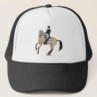 Boné Arte lindo do cavalo do adestramento do Buckskin