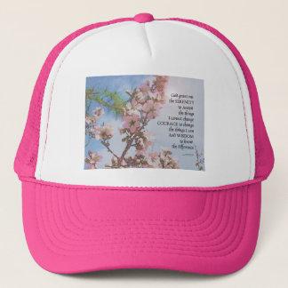 Boné Árvore do céu das flores da oração da serenidade