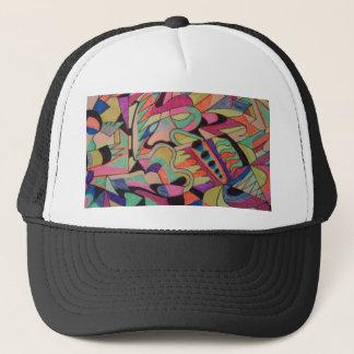 Boné As abstracções originais projetam tudo colorido