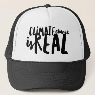 Boné As alterações climáticas são chapéu real do